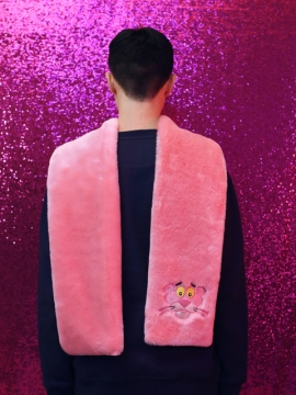 [SOLD OUT]CHARM'S X PINKPANTHER Fur muffler / pink