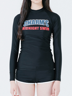 Solid Rash Guard W / BK