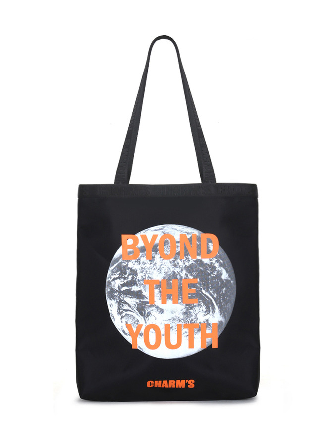 B.T.Y Tote bag_BK/OR