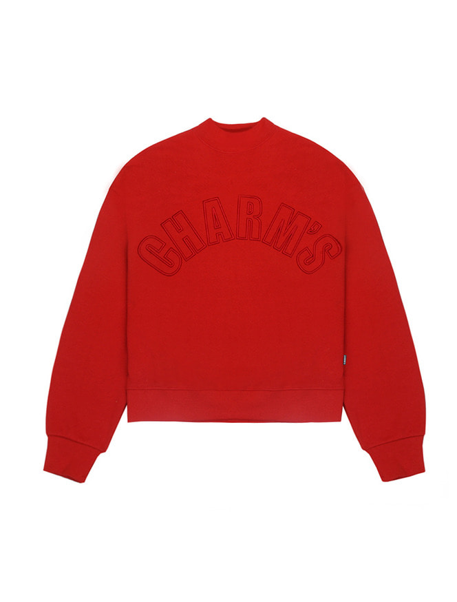 Half high neck sweatshirt / RE