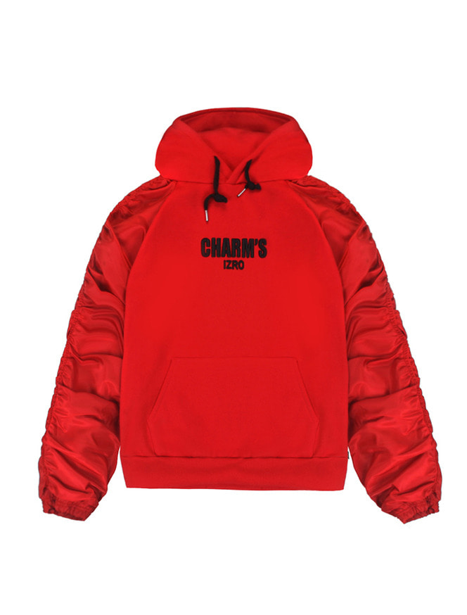 CHARM'S X IZRO SHIRRING HOODY_RE