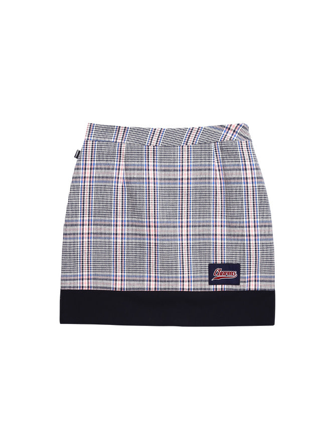 CHECK,  CHECK SKIRT_BL