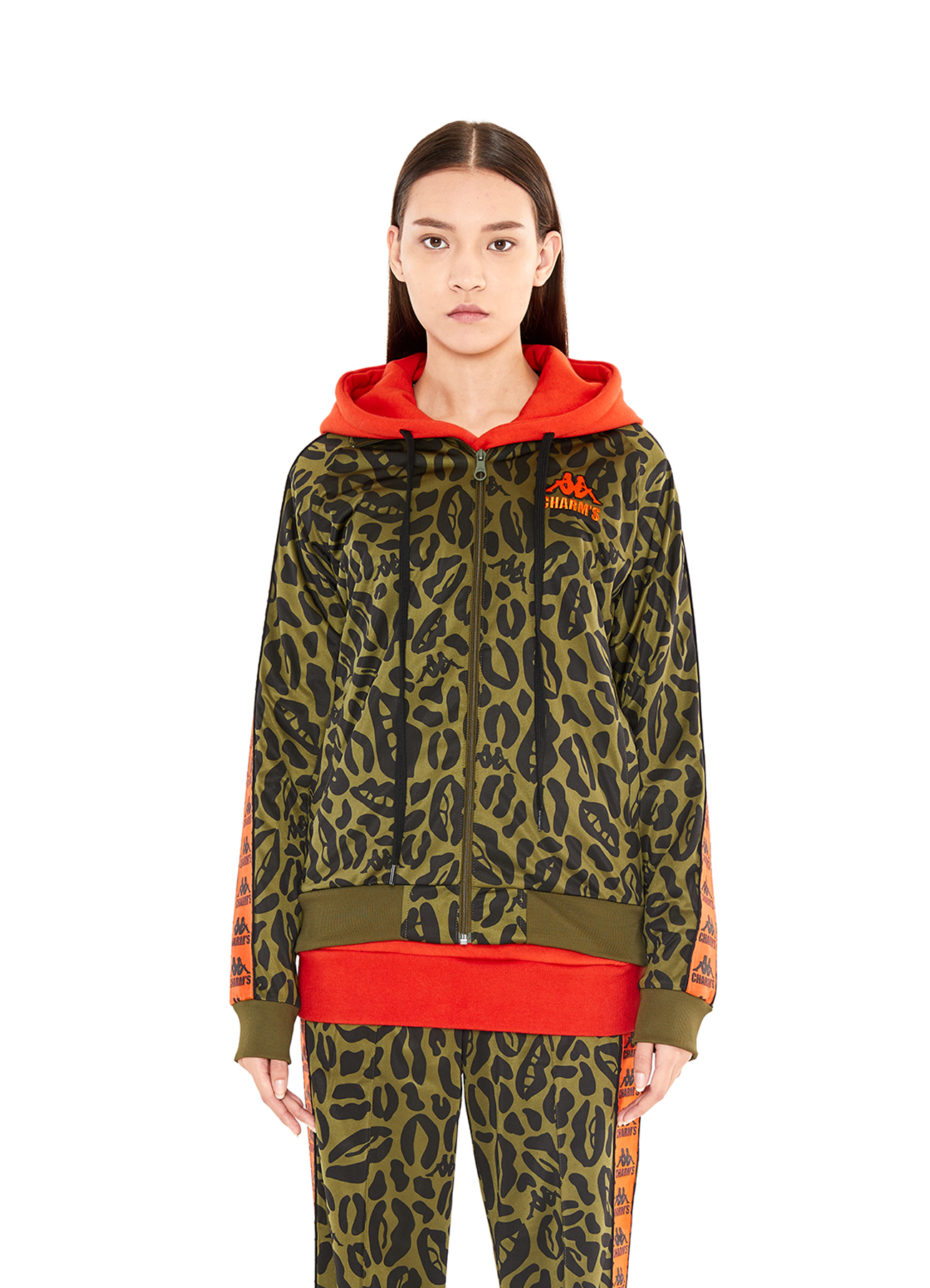 X Kappa Lip&Leopard Patten Training Jacket