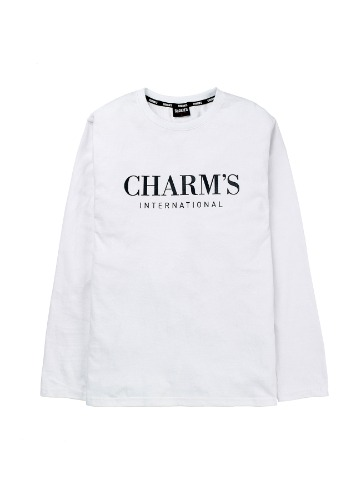CHARMS BASIC LOGO T-SHIRTS WH