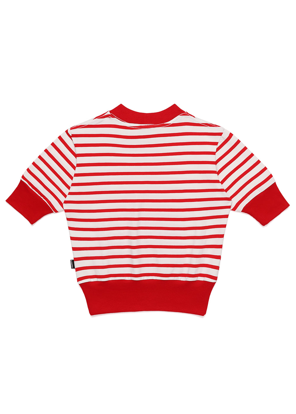 Heart Lip Logo Stripe Lib Crop T RE