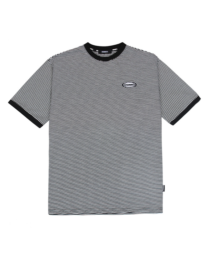 Stripe Circle Logo T_WHBK
