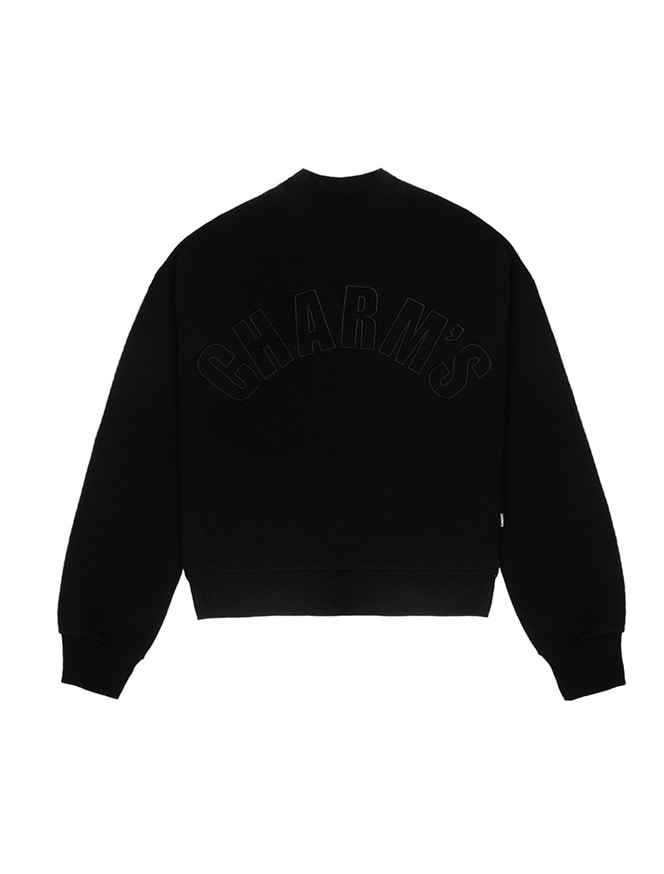 Half high neck sweatshirt / BK