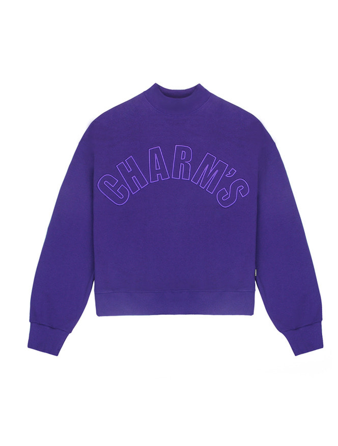 Half high neck sweatshirt / PU
