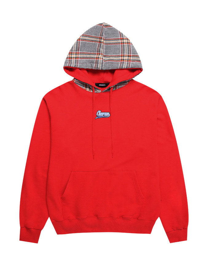 CURSIVE CHECK LOGO HOOD_RE