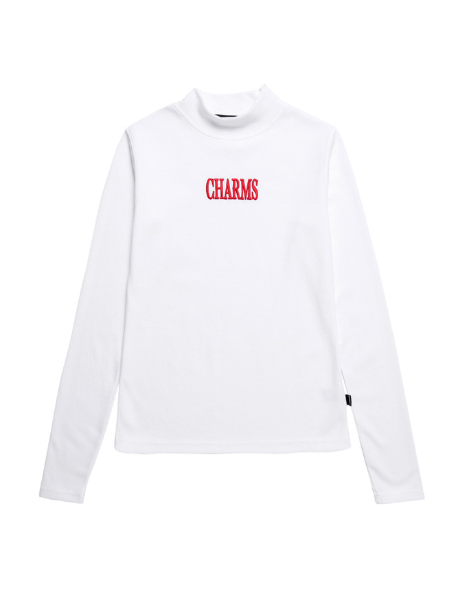 Gotic Logo Turtleneck_WH