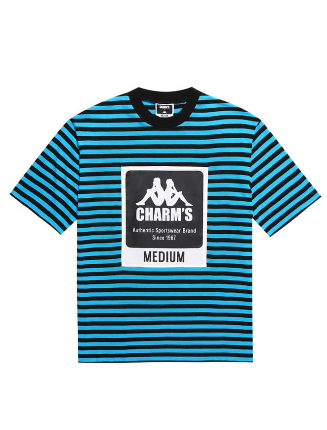 CHARM'S X KAPPA STRIPE LABEL SHOTSLEEVED T_BL