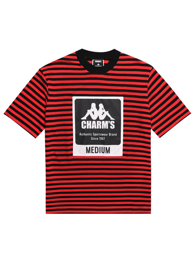 CHARM'S X KAPPA STRIPE LABEL SHOTSLEEVED T_RE