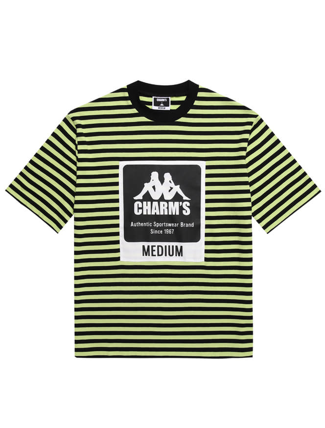 CHARM'S X KAPPA STRIPE LABEL SHOTSLEEVED T_GR
