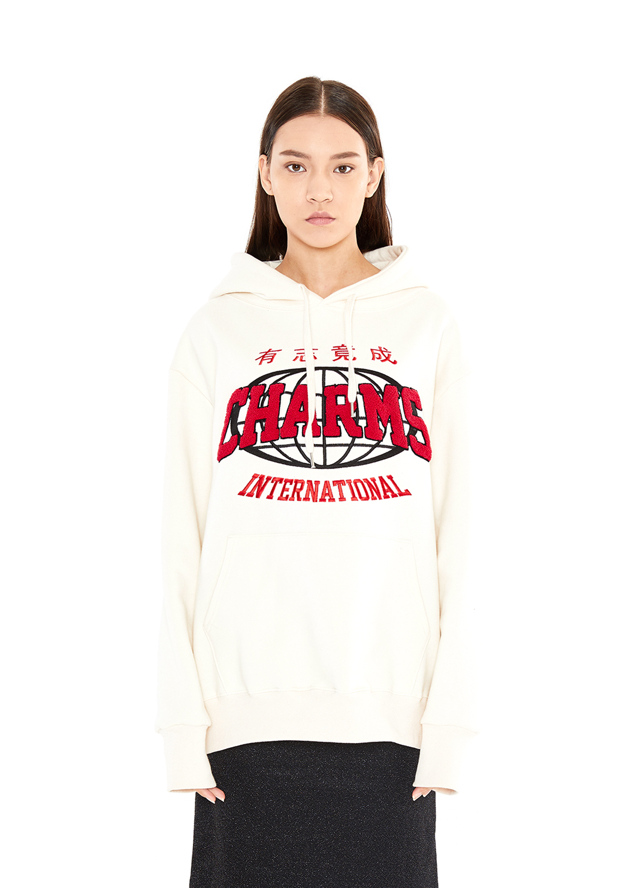 CHARMS LOUND LINE LOGO HOODY_WH