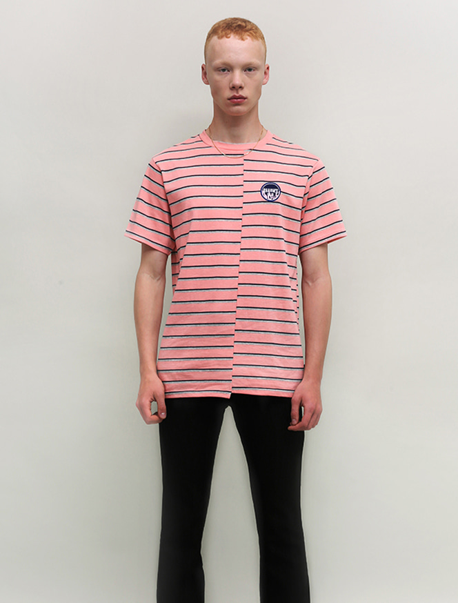 FLAME PATCH STRIPE T-SHIRT_PK