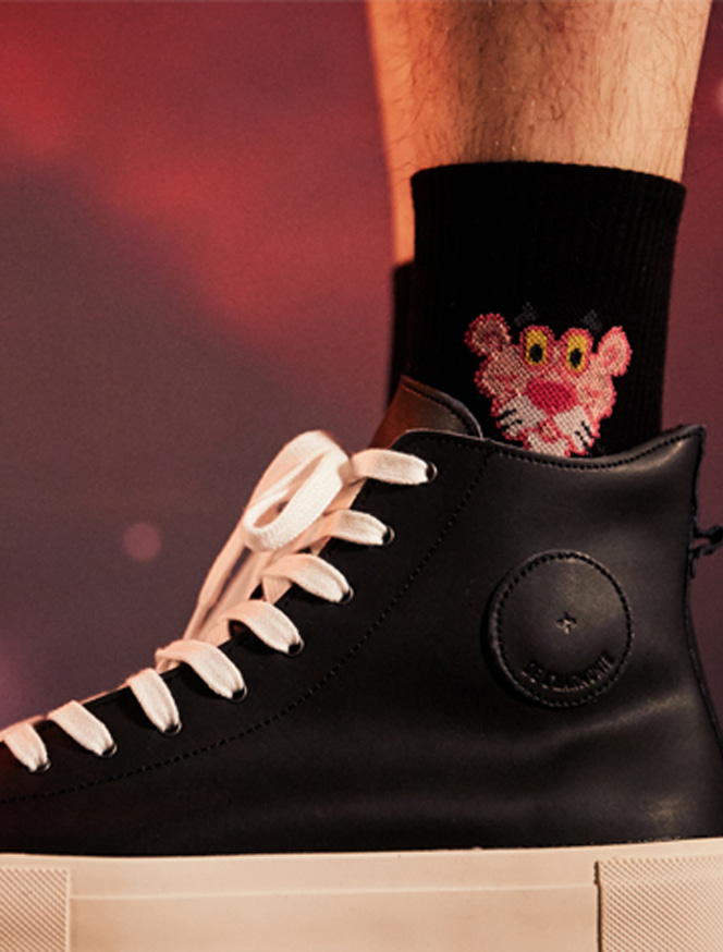 CHARM'S x PinkPanther Socks / black