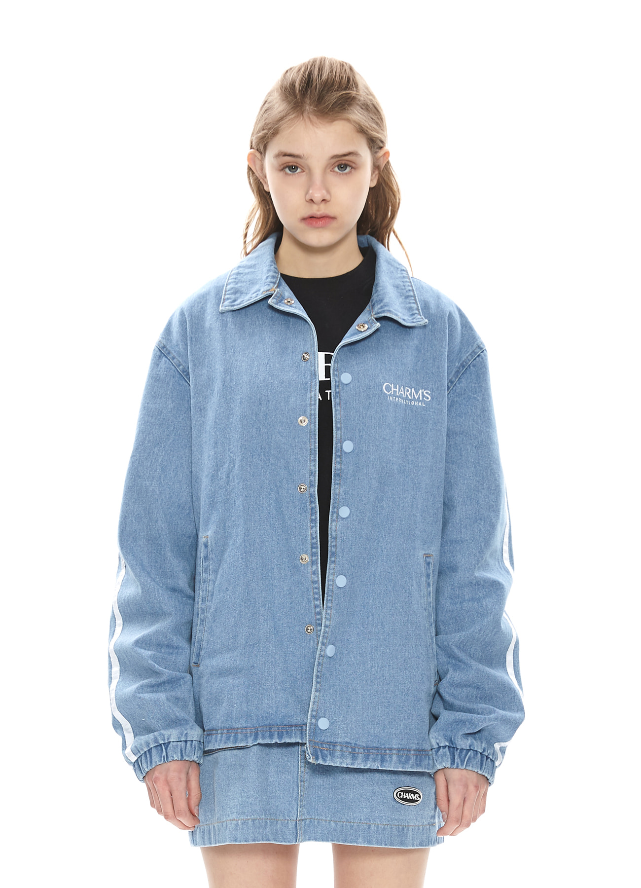 CHARMS NYLON LONG COACH JACKET_NV