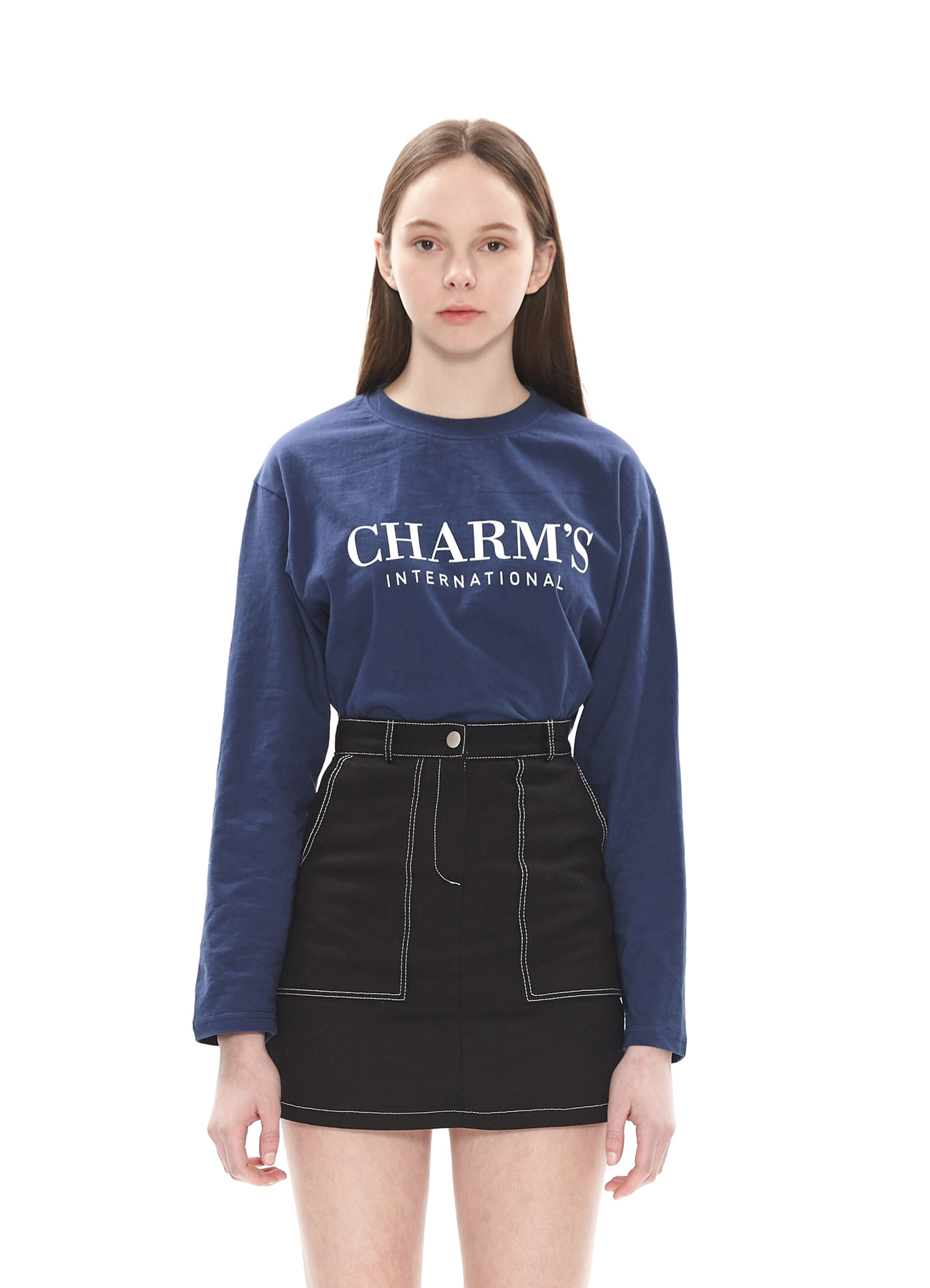 CHARMS BASIC LONG SLEEVE T_NV