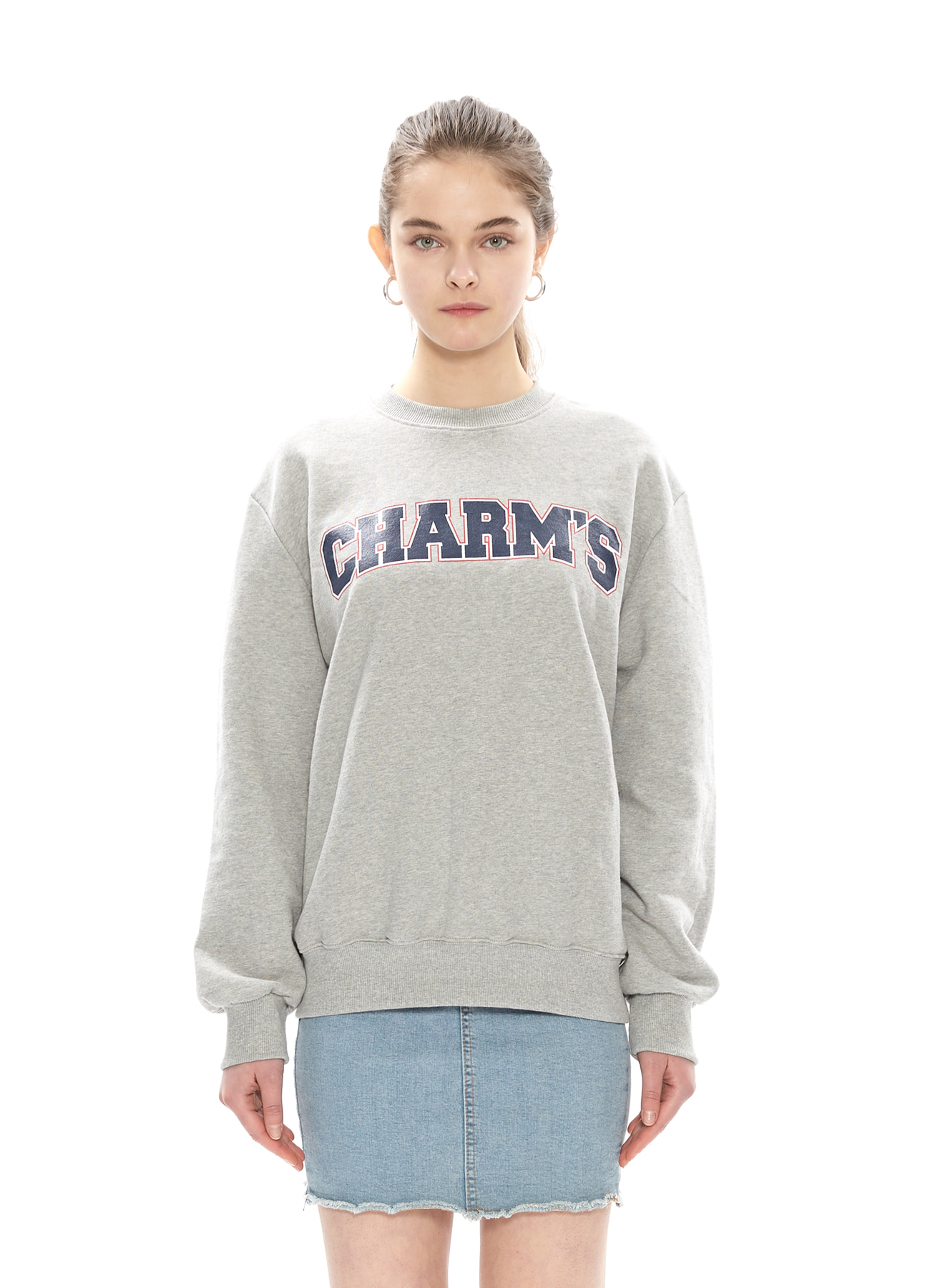 CHARMS BIG LOGO SWEATSHIRTS_GY