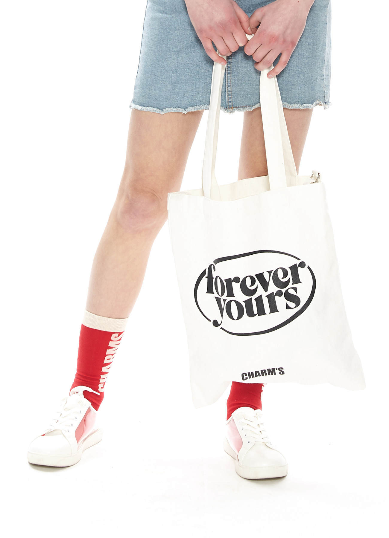 FOREVER YOURS CIRCLE LOGO ECO BAG_IV