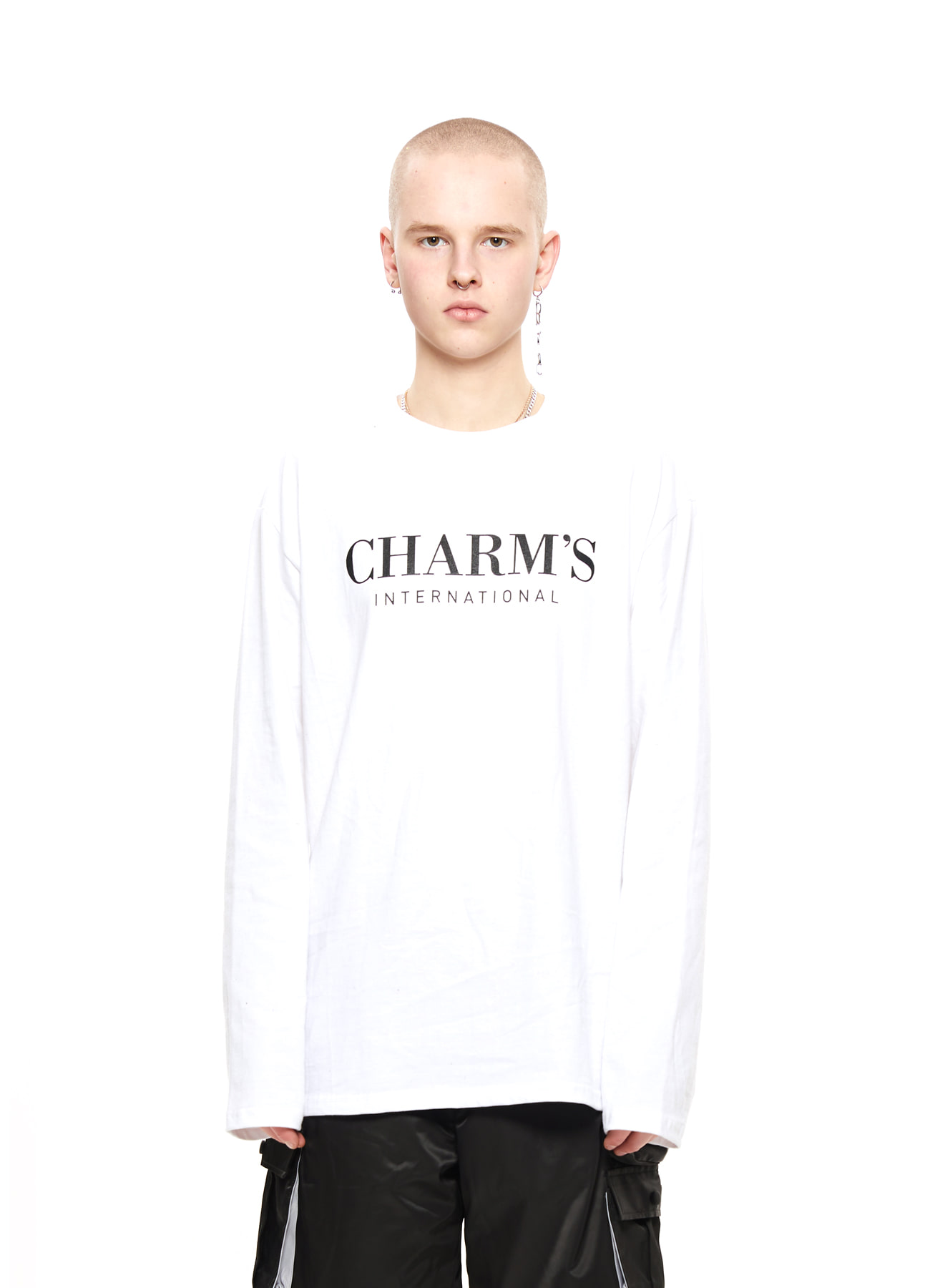 CHARMS BASIC LONG SLEEVE T_WH