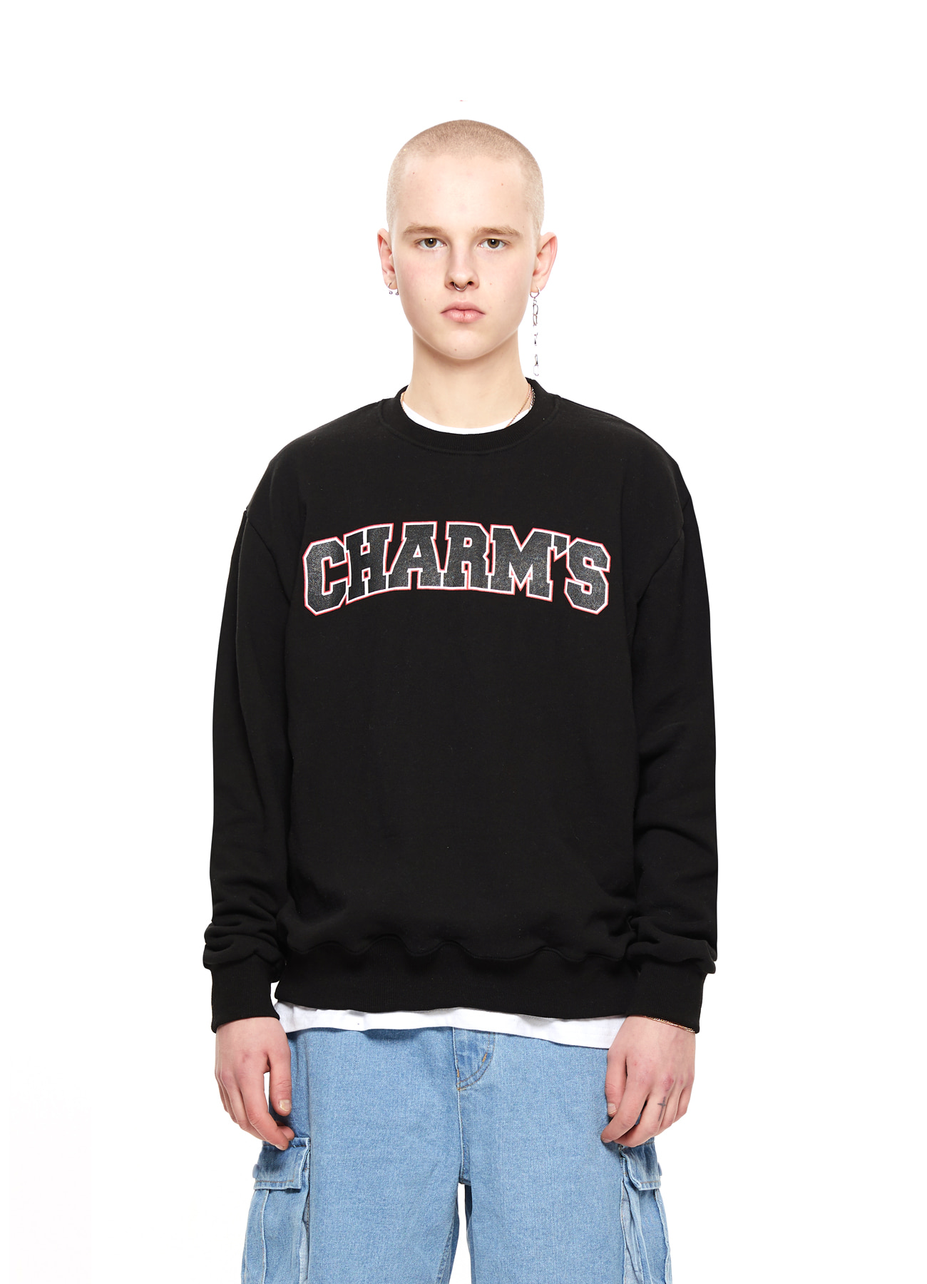 CHARMS BIG LOGO SWEATSHIRTS_BK