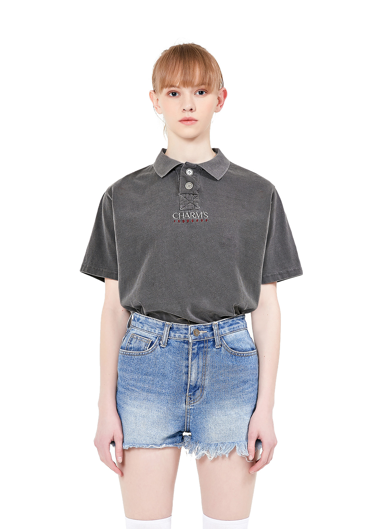 JEUNESSE X CHARMS SHORTSLEEVED PIQUE T_BK