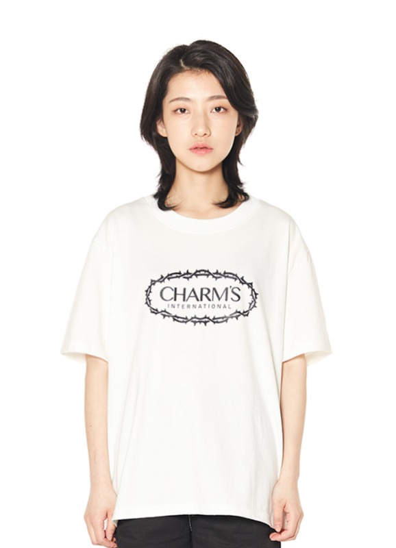 CHARMS ROSE CIRCLE LOGO T_WH