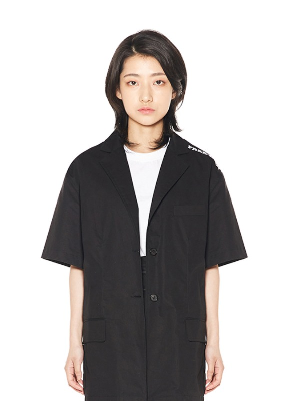 CHARMS BACK OPEN BUTTON JACKET_BK