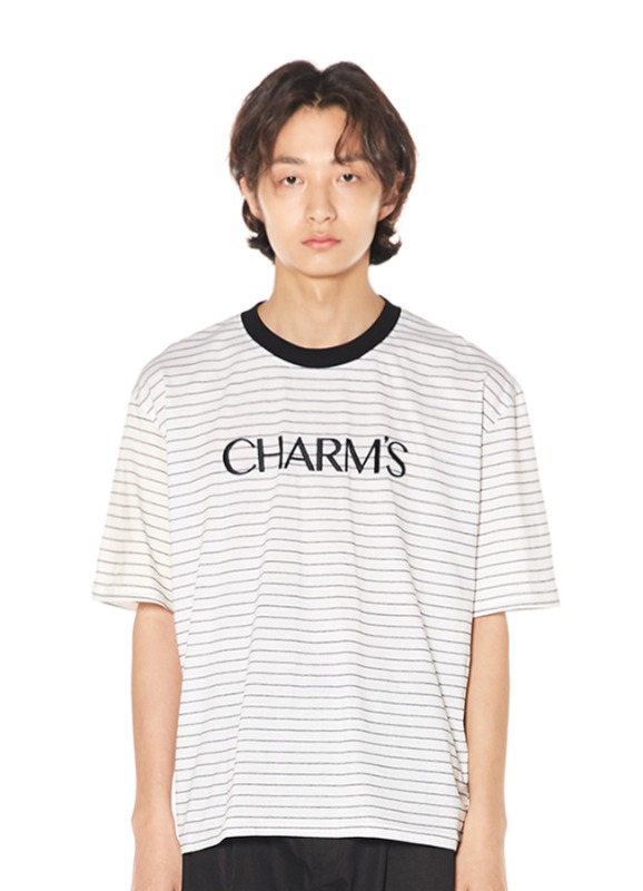 CHARMS BASIC LOGO STRIPE T+WH