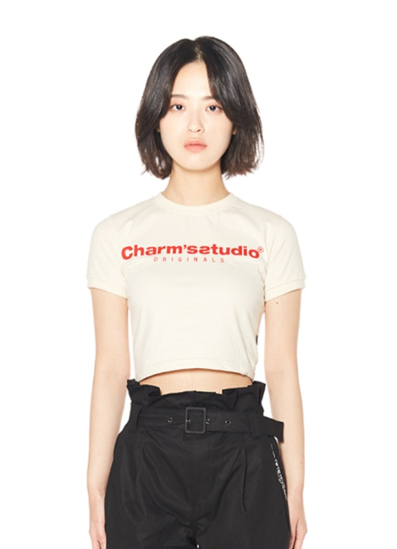 CHARMS STUDIO BASIC LOGO CROP T_IV