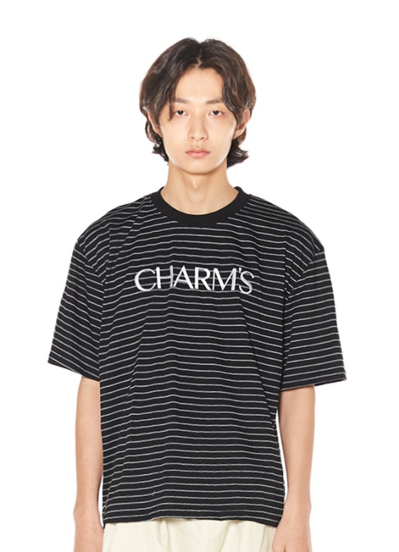 CHARMS BASIC LOGO STRIPE T_BK