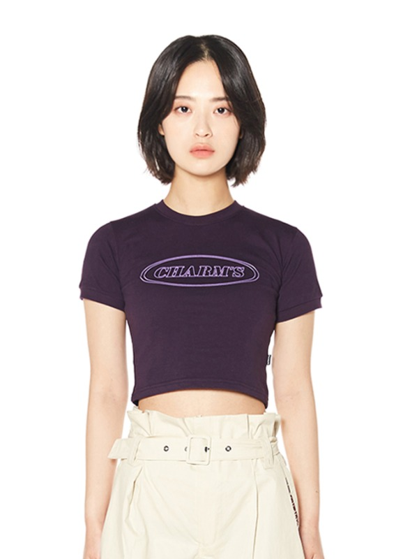 CHARMS LINE CIRCLE LOGO CROP T_PU