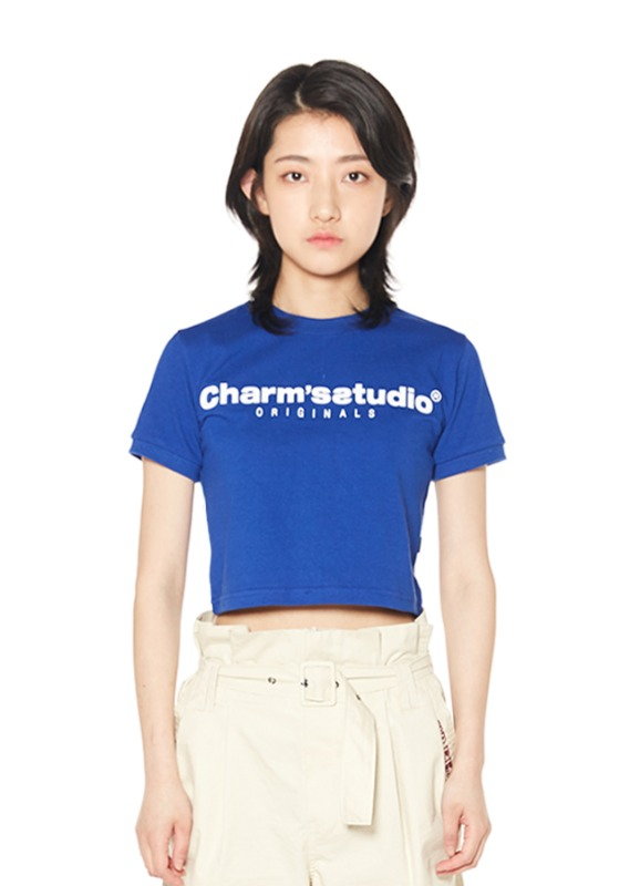 CHARMS STUDIO BASIC LOGO CROP T_BL