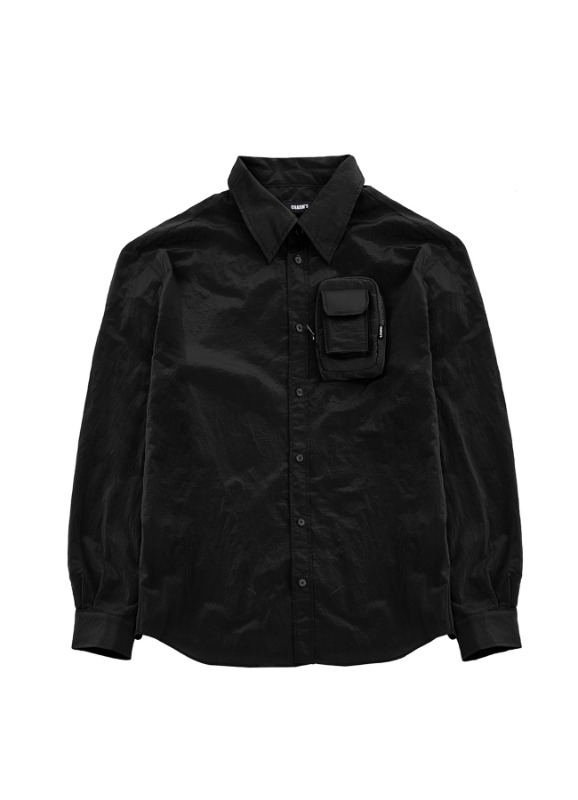 CHARMS NYLON POCKET SHIRTS_BK