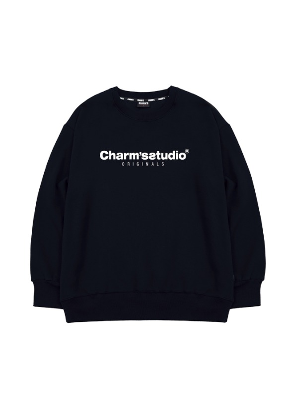 CHARMS STUDIO BASIC SWEATSHIRTS_BK