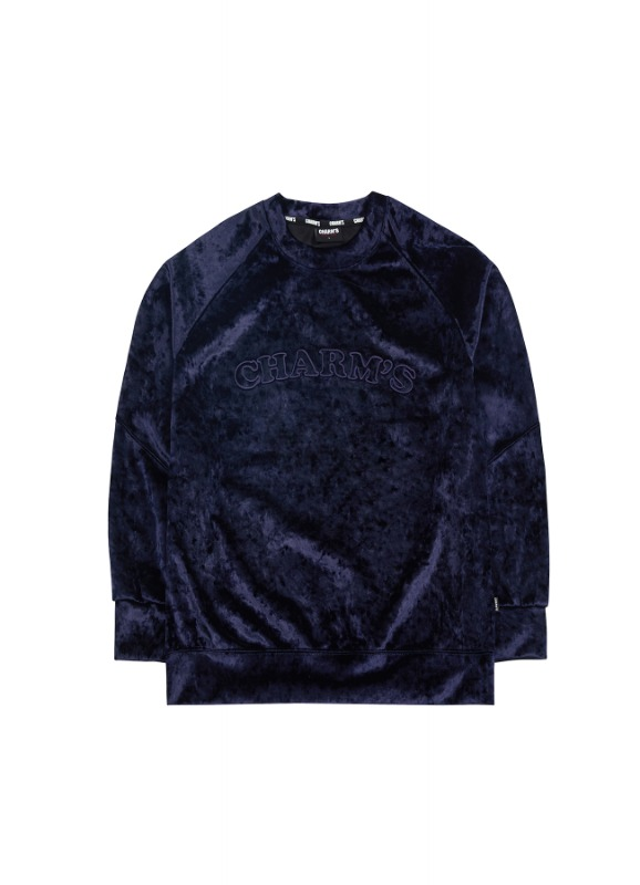 CHARMS BASIC LOGO VELVET SWEATSHIRTS_NV