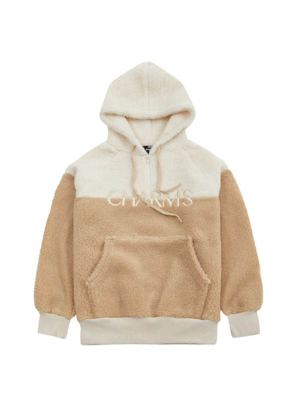 CHARMS HALF COLOR FLEECE HOODIE_BE