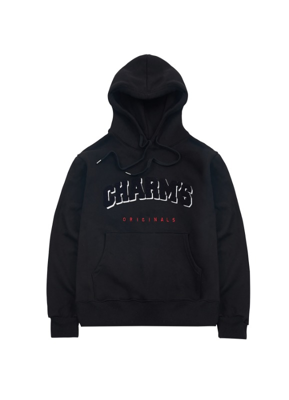 CHARMS SIGNATURE BOUCLE HOODIE_BK