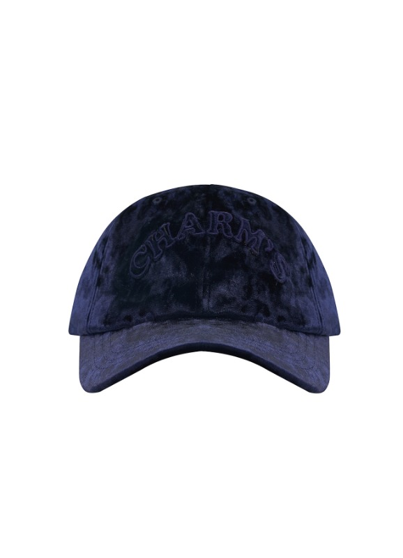 CHARMS VELVET BASIC LOGO BASEBALL CAP_NV