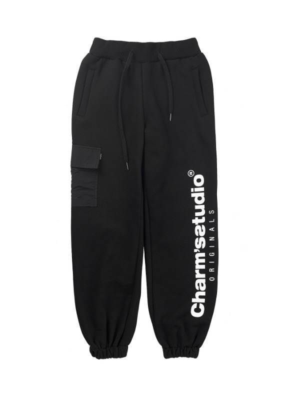CHARMS STUDIO POCKET SWEATPANTS BK