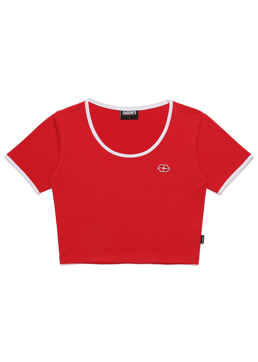 Heart Lip Logo U Neck Crop T RE