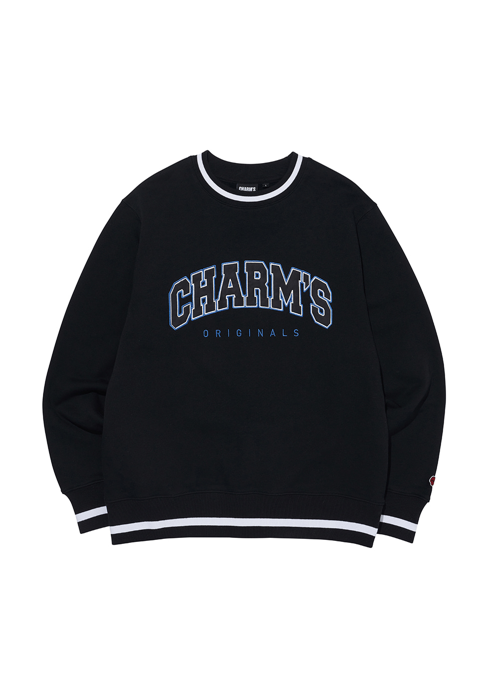 CHARMS APPLIQUE  LOGO SWEATSHIRTS BK