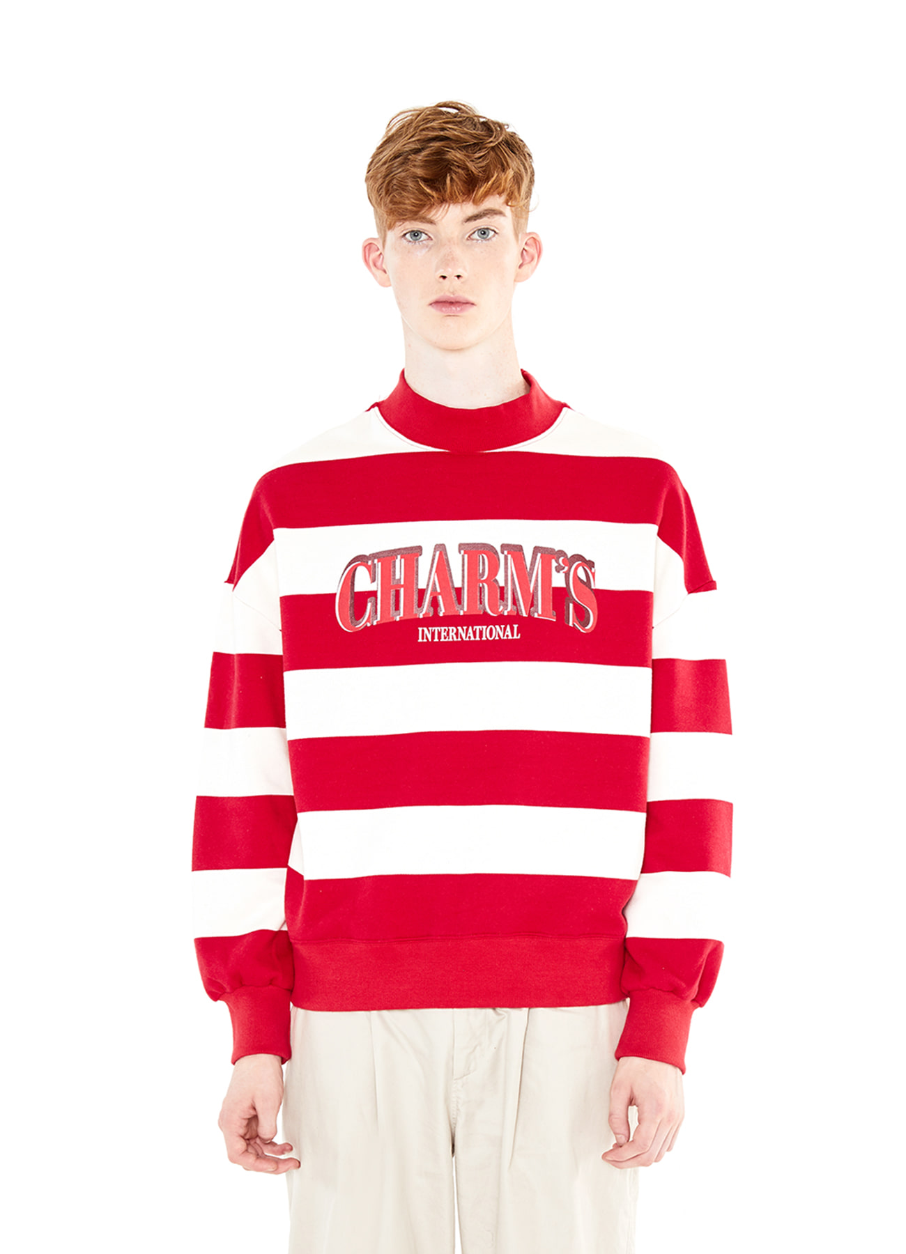 BIG STRIPE LOGO SWEATSHIRTS_RE
